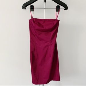 Express Purple Strapless Dress